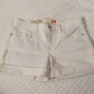 Pilcro off white shorts